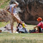 Doing Exercise in Sacsayhuaman