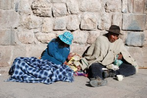 A Couple of Beggar Close to La Merced Church