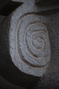 A Whirlwind like Spiral Carved in Cuzco
