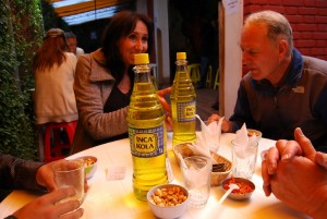 Enjoying the Lunch with an Inca Kola