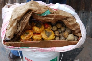 Rocotos Rellenos and Potatoes for Sale on Maruri Street