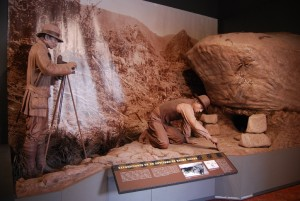 Casa Concha Museum's Display of Archeologists excavating Machu PIcchu