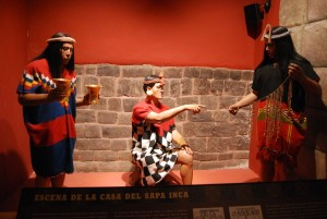 Casa Concha Display of People Serving the Inca