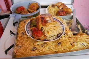 Baked Fettuccine, Rocoto Relleno, and Oven Baked Chicken