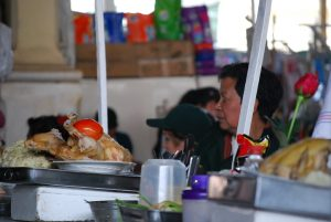 Selling Chicken Soup in the Market