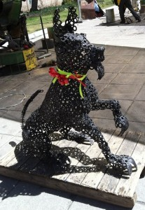A Dog Made from Scrap Metal