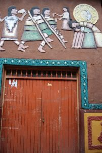 A Decorated Doorway in Pisac Village