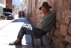 Old Man Watching the Day Go By in Pisac