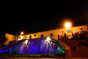 The Fountain of San Blas by Night