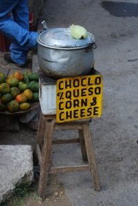 Fresh Corn Right out of Hot Water and Fresh Cheese for Sale