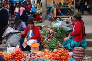 Vendors in Pisac's Market