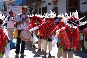 Musicians Accompanying Dancers in Cuzco