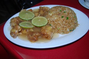 Chicken with Lime and Chaufa Rice