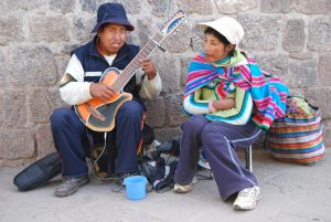 Performing on the Street, Modern Instrument Traditional Music