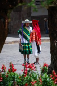 Young Couple Sharing a Moment in Cuzco's Plaza