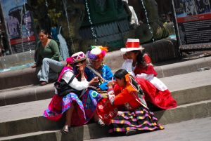 Cuzco's Young Women Dressed in Traditional Clothes for a Festival