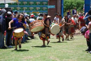Traditional Drummers Performing for a Festival
