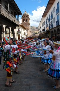 Dancers in Cuzco during Corpus Christi