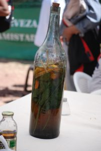 A Bottle of Anisado to Drink After Lunch