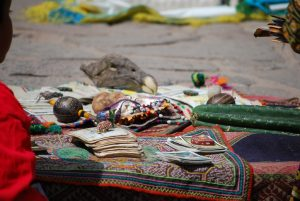 Elements of a Shaman in San Blas Offering Services Including Wachuma