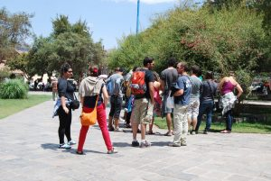 A Group of Backpackers Gathered in Cuzco