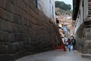 Looking fro Hatunrumiyoq Streets towards San Blas, the Former Zone of Terraces