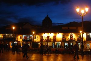 A Christmasy Cuzco by Night