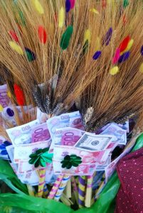 Wheat and Money for Good Luck on New Years