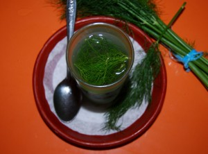 A Glass of Hot Fennel Tea