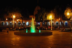 Plaza Regocijo by Night