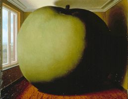 Magritte (http://en.wikipedia.org/ wiki/The_Listening_Room)