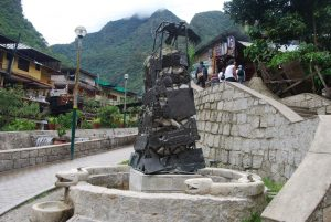 Sculpture of a Condor in Aguas Calientes