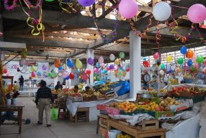 The Market of San Blas Decked Out Today
