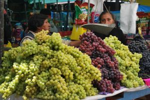 Mounds of Grapes in the Market