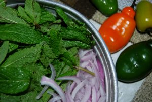 Dressings for Pork, Mint and Onion
