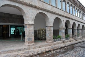 Colonnade of the New J.W. Marriott Hotel in Cuzco