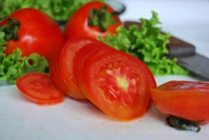 Tomatoes and Lettuces to Make a Salad