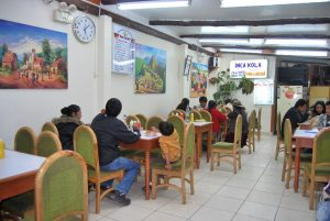 Patrons Eating in Don Lucho's Restaurant