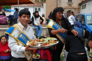 Feast Sponsors with Food for Guests