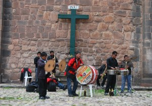 A Band Playing for the Comadres