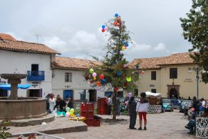 A Yunza Tree in San Blas Plaza