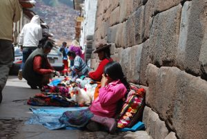 Selling Artisans on Cuzco Streets