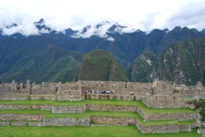 Terraces on the Plaza of Machu PIcchu