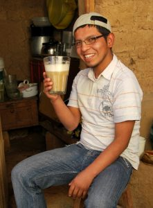 "Adrian Saying ""Salud"" Before Drinking His Chicha"