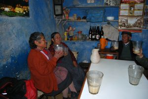 Toasting in a Traditional Cuzco Chichería