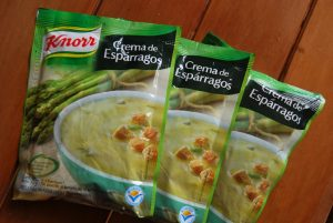 Packages of Cream of Asparagus Soup for Sale in Cuzco