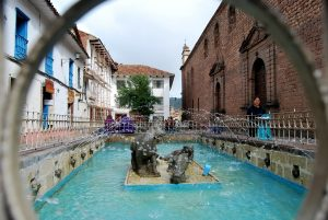 The Pool and Fountain in the Plaza of Santa Catalina, Cuzco