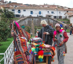 Tourist Buying Weavings