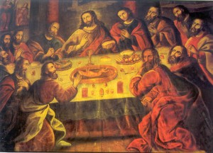 The Last Supper by Marcos Zapata (http://es.wikipedia.org/wiki/ Marcos_Zapata_(pintor))