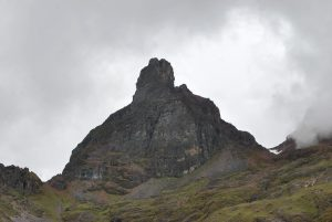 A Once Snow-Clad Peak Near the Pass to Lares